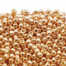 Toho Seed Beads 8/0 - Permanent Finish Galvanized Rose Gold - 10g