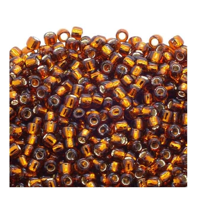 Seed Beads 6/0 - Silver Lined Smoky Topaz - 10g