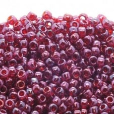 Toho Seed Beads 8/0 - Gold Lustered Raspberry - 10g