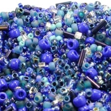 Toho Seed Beads Mix - Blue/Green Mix (Mahou) - 10g