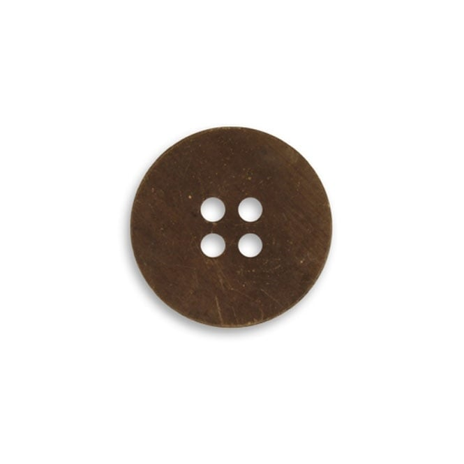 Natural Brass - 19mm Button Blank