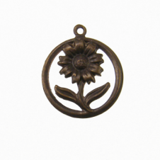 Vintaj Natural Brass - 20mm Sunflower Motif