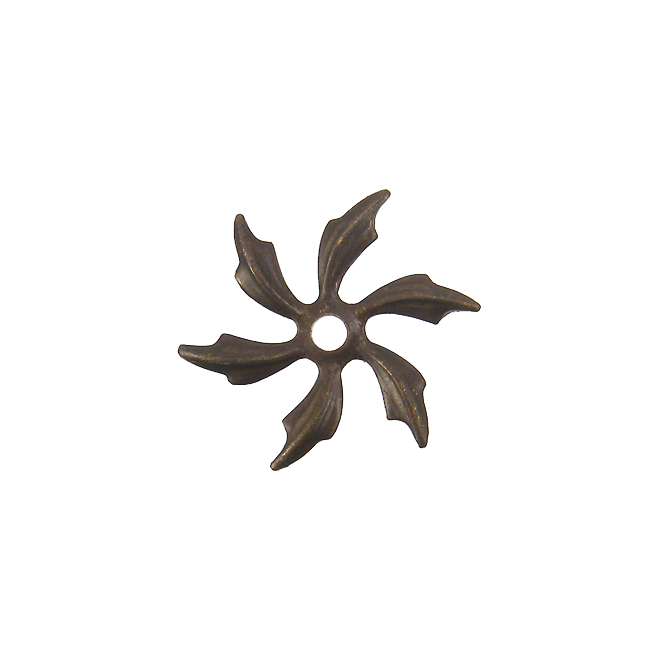 Natural Brass - 21mm Pinwheel Petals