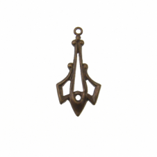 Vintaj Natural Brass - 24x12mm Trident