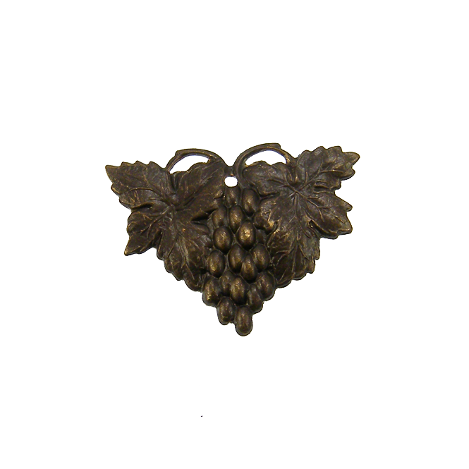Vintaj Natural Brass - 25x18mm Harvest Grapes