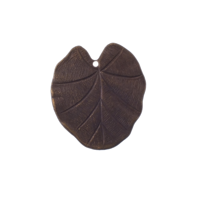 Natural Brass - 31x28mm Nouveau Leaf
