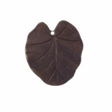 Vintaj Natural Brass - 31x28mm Nouveau Leaf