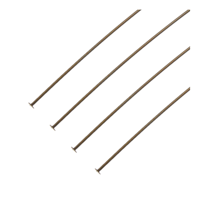 Natural Brass - 38mm Pearl Headpin