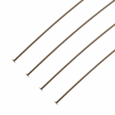 Vintaj Natural Brass - 38mm Pearl Headpin