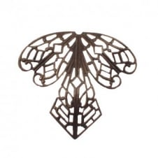 Vintaj Natural Brass - 38x35mm Orchid Filigree