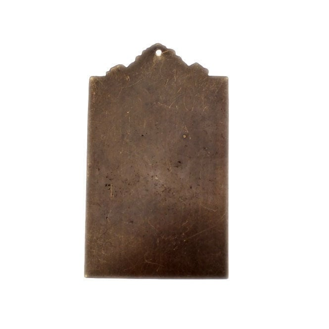 Natural Brass - 53x30mm Large Ornate Tag