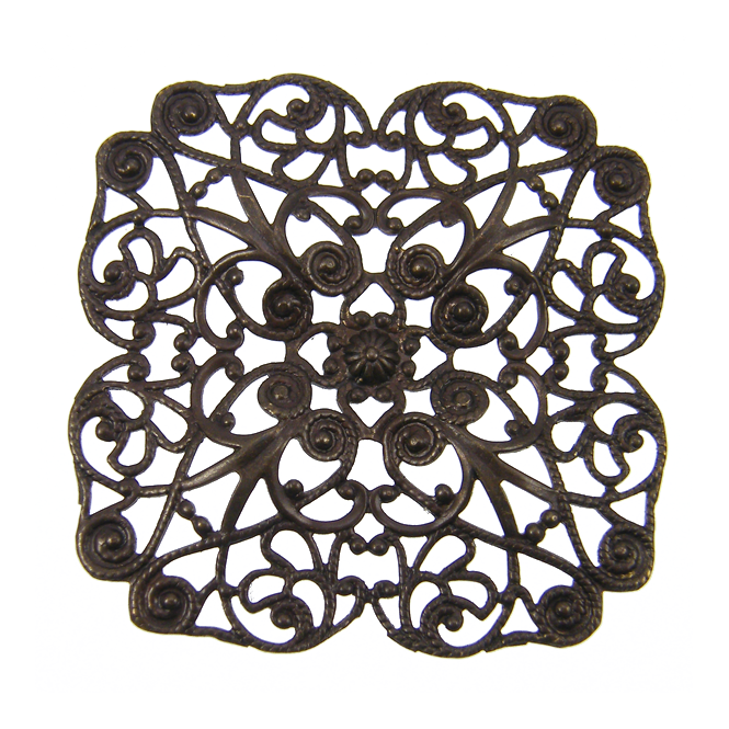 Natural Brass - 59mm Full Poppy Filigree