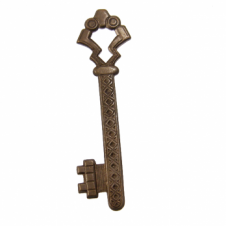 Vintaj Natural Brass Pendant - 55x15mm Gate Key