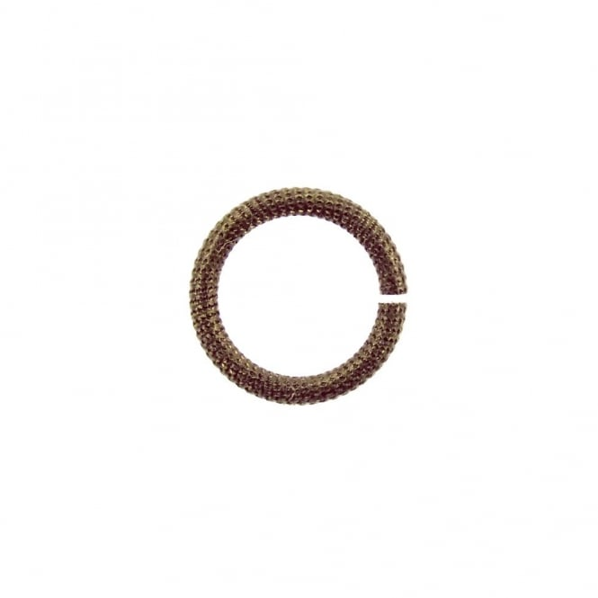 Natural Brass - 11.25mm Rib Cable 15ga Jump Rings - 4pk