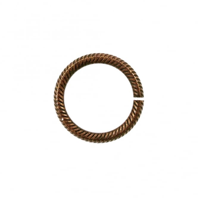 Natural Brass - 14.25mm Rib Cable 13ga Jump Rings - 4pk