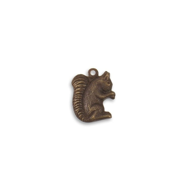 Natural Brass - 16.5x12.5mm Gathering Squirrel - 1pk