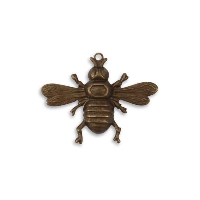 Natural Brass - 26.5x33mm Bumble Bee - 1pk