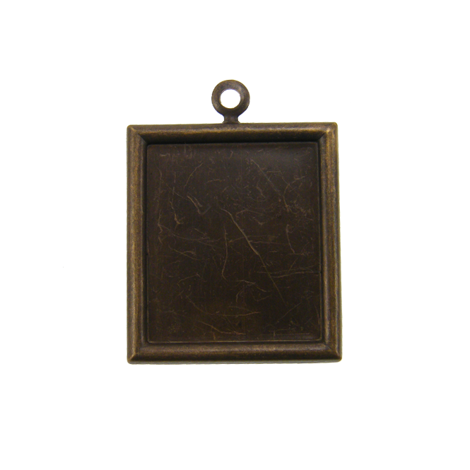 Vintaj Natural Brass - 28x25mm Rectangle Bezel - 1pk