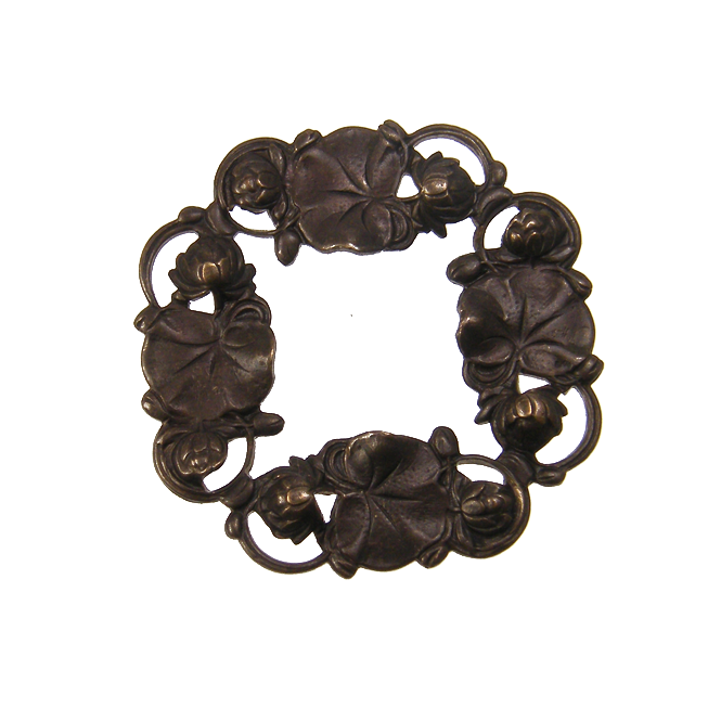 Vintaj Natural Brass - 40mm Waterlily