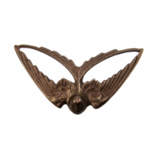 Vintaj Natural Brass - 41x21mm Swooping Swallow - 1pk