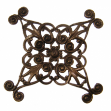 Vintaj Natural Brass - 44mm Diamond Swirl Filigree
