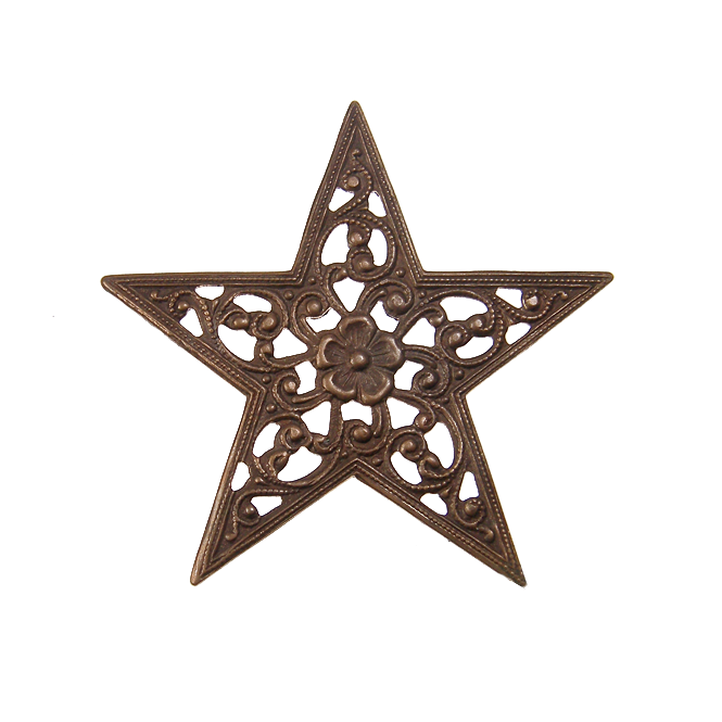Natural Brass - 45mm Star Trellis
