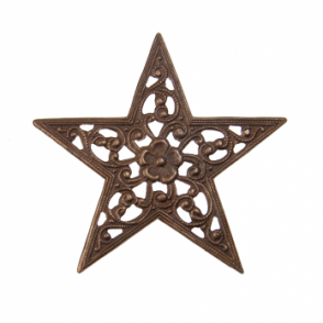 Vintaj Natural Brass - 45mm Star Trellis