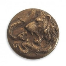 Vintaj Natural Brass - Lion Snake Figural - no hole - 1pk