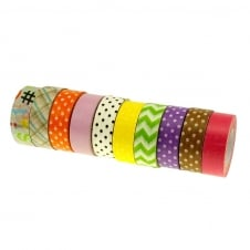 Washi Tape Mix - Pastel Print - 5 Rolls