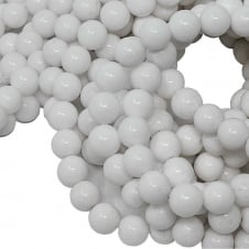 White Mountain Jade Round Gemstone Beads 8mm - 15