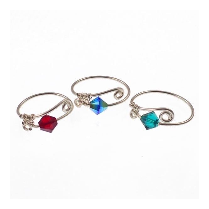 Wirework Rings Kit - Bright Jewel Colours - (Set of 3)