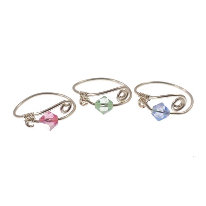 Wirework Rings Kit - Pastel Jewel Colours - (Set of 3)