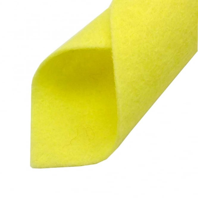 Wool Mix Felt Fabric Square 22cm/9inch - Lemon Sherbet - 1pk