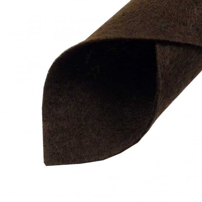 Wool Mix Felt Fabric Square 22cm/9inch - Peat - 1pk