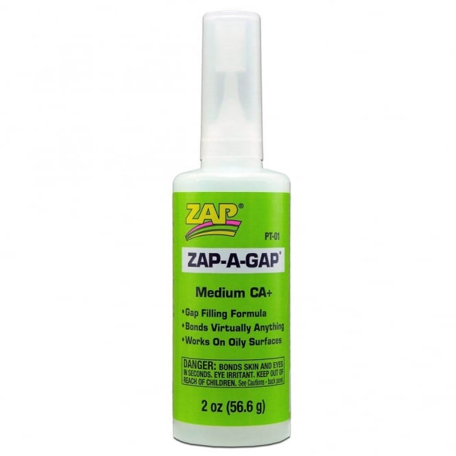 Zap -A-Gap Super Glue Cyanoacrylate Glue Medium Adhesive - 2oz (56.6g) PT01