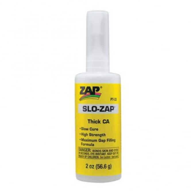 Zap Slo- Thick CA Slow Set Cyano Adhesive Super Glue - 2oz (56.6g) PT33